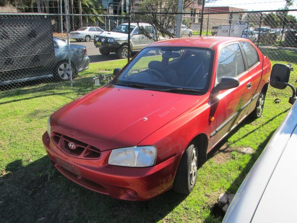 2001 HYUNDAI ACCENT MANUAL  | Dismantling Now | Penrith Auto Recyclers are dismantling major brand cars right now! We offer fully tested second hand, used car parts and genuine or aftermarket products for most of the major brands. (../../dc/gallery/par_cars_021.jpg)